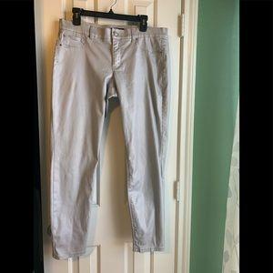 White House Black Market Jeans - WHBM silver metallic ankle jeans size 12